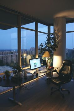 Setup with a view.