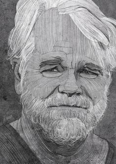 Famous Caricatures by Stavros Damos #philip #illustration #seymour #hoffman
