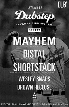 'The Editions': #atlanta #dubstep #poster #baseball #typography