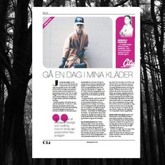 Nöjesmagasinet MGNS #design #type #layout #trees #magazine