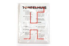 Identity and brochure for Toneelhuis in collaboration with Jurgen Maelfeyt.Photographs by Frieke Janssens #packaging #overlay #layer #typography