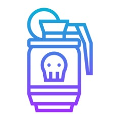 See more icon inspiration related to war, terrorism, hand grenade, miscellaneous, terrorist, grenade, skull, weapons, weapon and bomb on Flaticon.