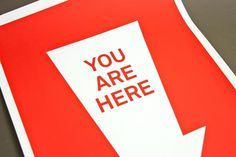 » You Are Here » The Print Sale #red #you #print #design #graphic #here #photography #are #poster #arrow #typography