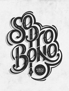 So pro bono | Flickr - Photo Sharing! #type #illustration #typography