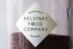 Helsinki Food Company #branding #packaging #print #design #label #brand #identity #logo #sticker #package #typography