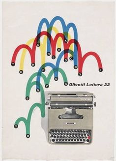 MoMA | The Collection | Giovanni Pintori. Olivetti Lettera 22. 1953 #giovanni #olivetti #advertisement #lithograph #1953 #pintori