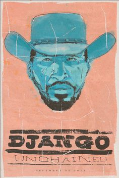 Movie Poster Series on Behance #ink #django #& #unchained #illustration #pen