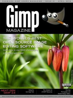 GIMP Magazine #design #graphic #cover #photography #art #gimp #magazine #typography