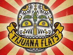 Dribbble - Tijuana Flats Artwork by Kevin Taylor #sugar #illustration #flats #tijunana #skull