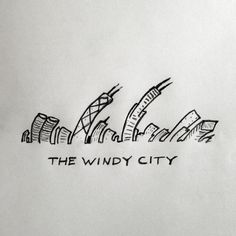 Chi-Town #chicago #cityscape #city #the #illustration #windy #drawing