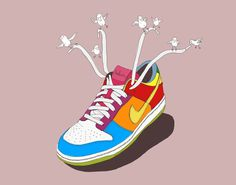 Rbelion #schoe #schoes #diseã±o #air #rbelion #design #graphic #colours #flying #birds #nike #sneaker #grafico