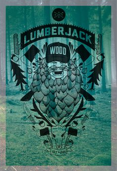 Lumberjack #lumberjack #illustration #woods #poster
