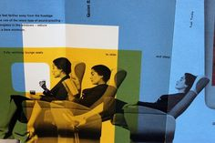 All sizes | Swissair – DC7c Seven Seas | Flickr - Photo Sharing! #woman #airplane #diagram #cyan #yellow #relax #swissair #graphics