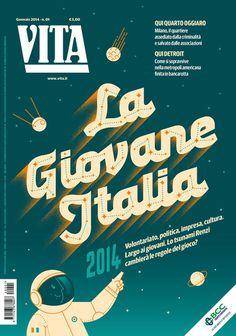 Vita Magazine on grainedit.com #illustration #vita #magazine #publication #constellation #space #astronaut