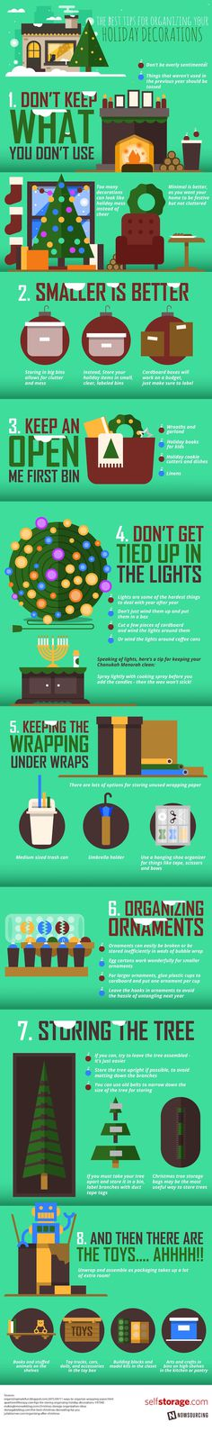 Check out these awesome #storage #tips that can help you reduce your #holiday #clutter! No more tangled lights!