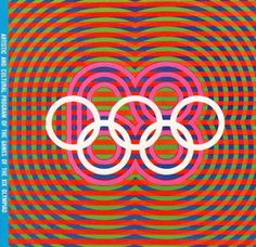 Olympic Games 1968, Mexico #illustration #vintage #logo #retro #1968 #mexico #lines #classic #games #stripes #circles #olympic
