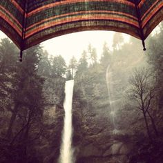 multnomah falls by lucy xuan minh #photo #waterfall #umbrella