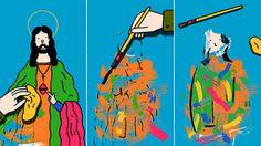 David Biskup Illustration #modern #jesus #illustration #paint #art #biskup #brush #david