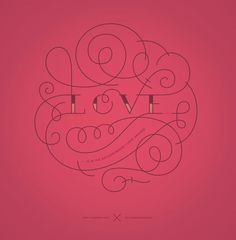 Love typography #illustration #lettering #love #typography