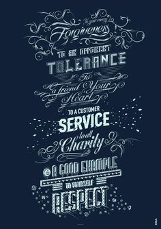 VALUES! Custom Typography Poster
