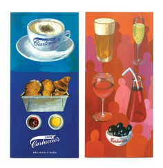 Carluccio's Menus | Irving #print #menu #restaurant #illustration