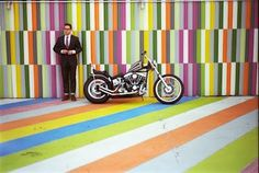 the world is flat #designer #color #motorcycles #paint #square #art