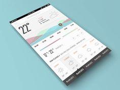 Moodcast - Weather Mobile App UI Design