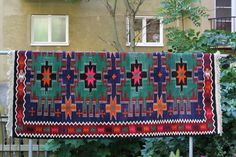 kilim / karabagh #kilim #pattern #imtun #orange #kelim #blue #carpet #rug #colour #swede #green