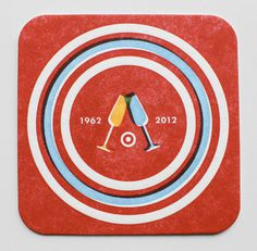 Allan Peters Target via www.mr cup.com #design #type #letterpress #coasters