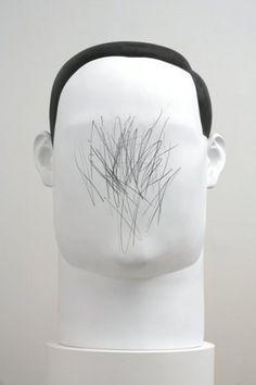 MIXED MEDIA ART | SCULPTURES #white #sculpture #drawing #curious