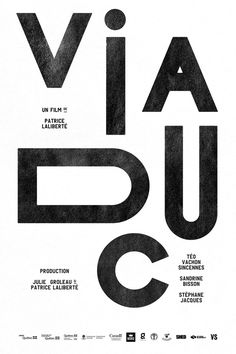 Viaduc film poster #movie #letters #texture #poster #type