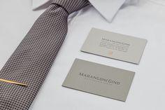 Marangoni Gino | Personal Brand. #copper #hotfoil #elegant #sober #minimal #business #cards #favini #burano #coupled #paper