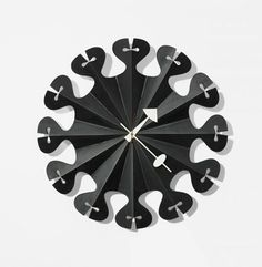 Pleated Star Wall Clock by George Nelson | Daily Icon