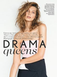 Daria Werbowy by Patrick Demarchelier for Vogue UK #editorial