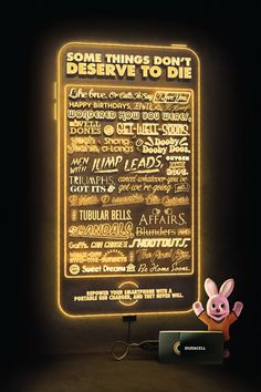 Duracell: Some things don't deserve to die #print #typography