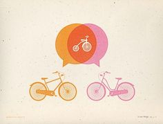 Allan Peters #vector #print #retro #screen #bicycles