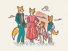 Fantastic Mr Fox #illustration