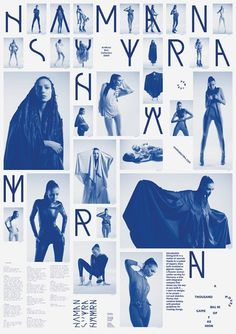 tobias röttger _ haman sutra identity #fashion #blue #layout