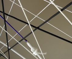 DEUTSCHE & JAPANER - Creative Studio - kiosk opening #lines #rope #graphic #installation