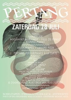 Pertang - Benny Arts #antwerp #flyer #fruit #benny #arts #pertang