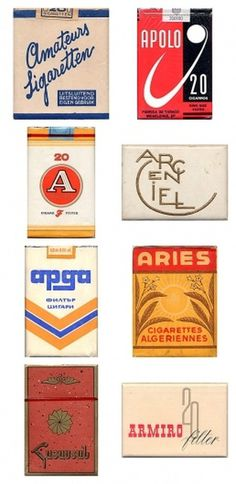 Awesome Vintage Cigarette Package Designs #package #cigarettes