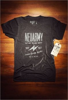 Neusprint® — Standard Issue Neuarmy Shirt #typography #screen printing #shirt