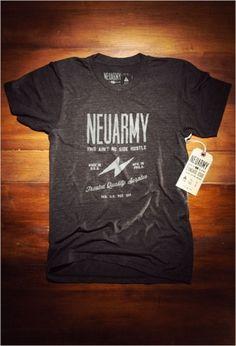 Neusprint® — Standard Issue Neuarmy Shirt #typography #screen printing #shirt