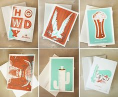 design work life » cataloging inspiration daily #cards #orange #texture #rust #foam #invitations #greeting #teal