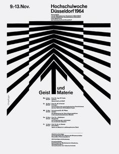 Walter Breker — Mind and Matter, Highschool Week (1964) #white #modern #black #grid #poster #and