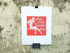 Lose Your Troubles Here - 8 x 10 Mini Poster #kitsch #retro #girlie #illustration #vintage #etching #matchbook #art #burlesque