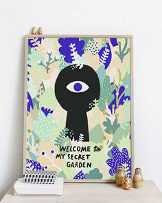 #nordic #design #graphic #illustration #danish #bright #simple #nordicliving #living #interior #kids #room #poster #garden #secret #leaves