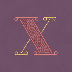 x - Heymikel #letters #lettering #illustration #type #typographie #heymikel
