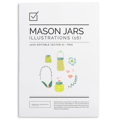 Nice little mason jar set to help you decorate your scrapbook, tags, cards and other printables or even for use on your blog as icons!