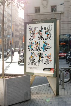 Visual identity and poster designed by Requena featuring illustration by Olga Capdevila for Sant Jordi Festival 2017